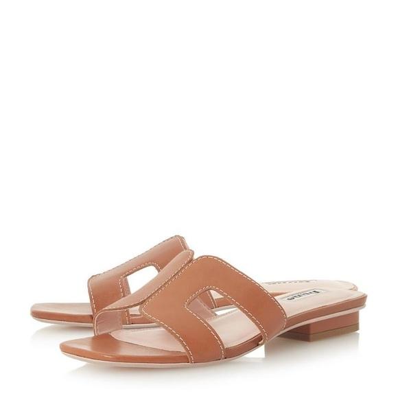 eb44390d99 Dune London Shoes   Dune Loupe Tan Slides   Poshmark